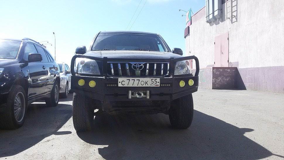 Передний силовой бампер Land Cruiser Prado 120 серия Т