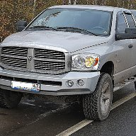 Силовой бампер Dodge RAM III Double cab (2001 - 2009 г.в.)