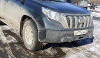 Силовой бампер передний для Toyota Land Cruiser Prado 150 (серия Л)